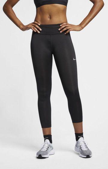 Nike | Black Solid Nike Tights