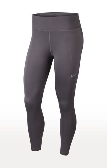 Nike | Grey Solid Nike Tights