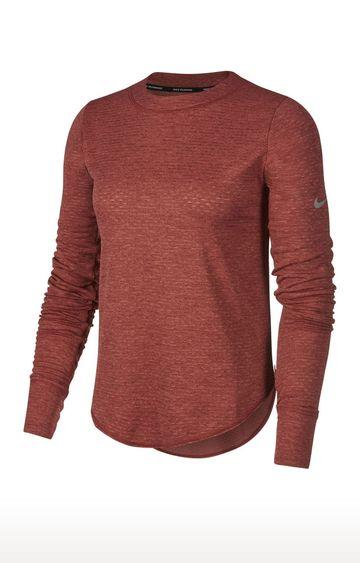 Nike | Maroon Printed Sphere Element T-Shirt