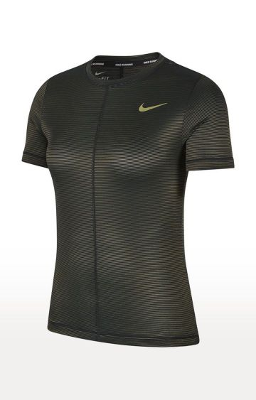 Nike | Black Solid Miler T-Shirt