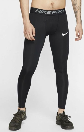 Nike | Black Solid Pro Thermal Bottoms