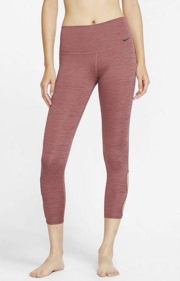 Nike | Maroon Melange Yoga Tights