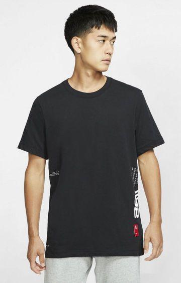 Nike | Black Printed Dri-Fit Kyrie T-Shirt