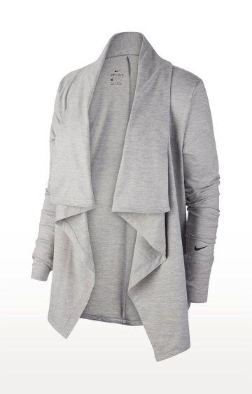 Nike | Grey Melange Yoga Shrug