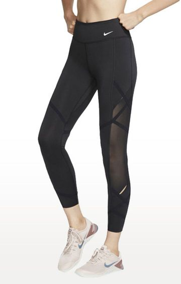 Nike | Black Solid One Icon Clash Tights