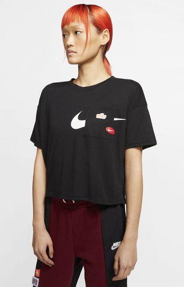 Nike | Black Icon Clash Printed T-Shirt