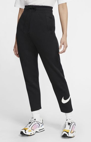 Nike | Black Sportswear Swoosh Solid Trackpants