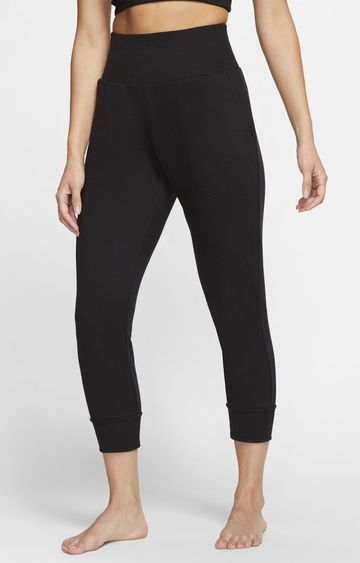 Nike | Black Yoga Solid Joggers
