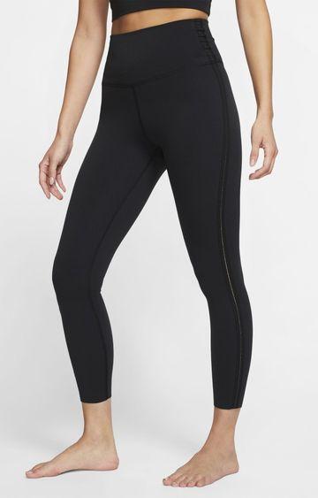 Nike | Black Yoga Solid Tights