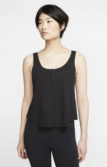 Nike | Black Yoga Luxe Solid Tank Top