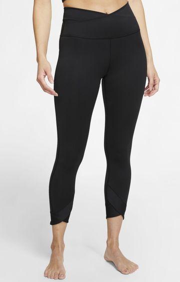 Nike   Black Yoga Solid Tights