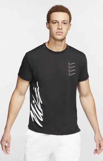 Nike | Black Printed T-Shirt
