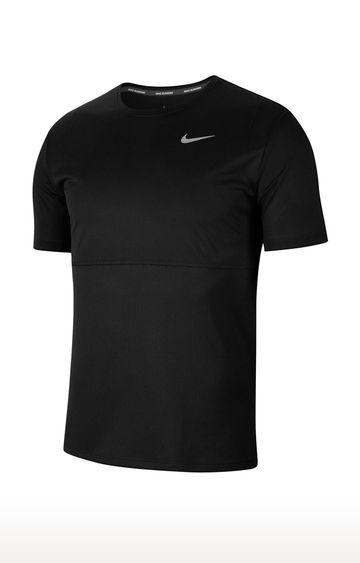 Nike | Black Breathe Solid T-Shirt