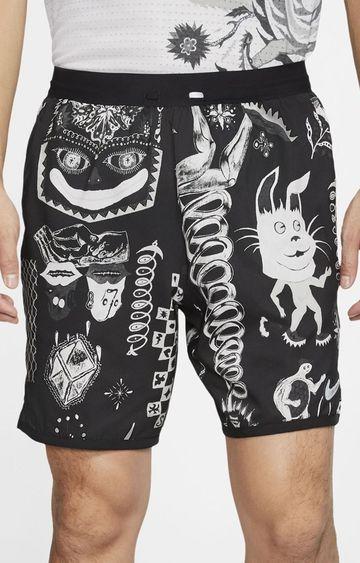 Nike | Black Flex Printed Shorts