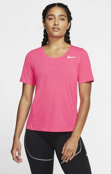 Nike | Pink City Sleek Solid T-Shirt