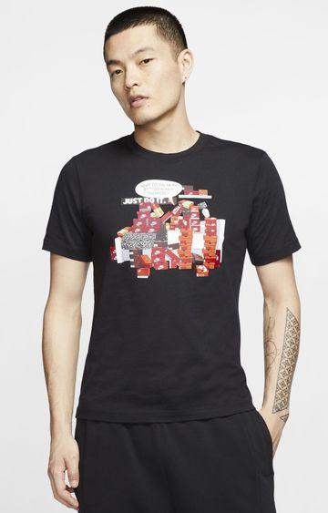 Nike   Black Printed T-Shirt