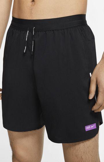 Nike | Black Flex Stride Solid Shorts