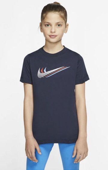 Nike | Unisex Blue Printed T-Shirt