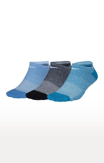 Nike | Multicoloured Solid Nike Everyday Cushioned No-Show Training Socks - Pack of 3