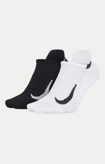 Nike | Black and White Nike Multiplier Solid Socks