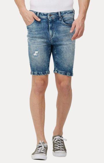 Killer   Blue Ripped Shorts