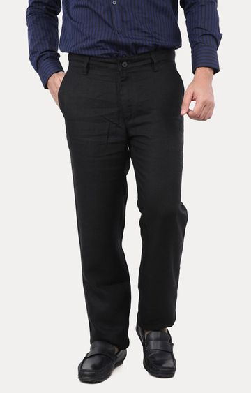 Turtle | Black Straight Chinos