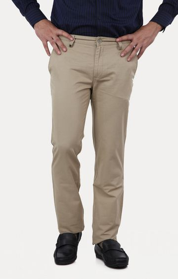 Turtle | Olive Straight Formal Trousers