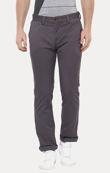 Turtle | Grey Straight Chinos