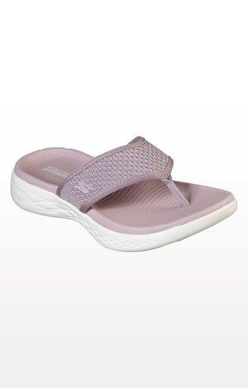 Skechers | Beige On-The-Go 600 - Glossy Flip Flops