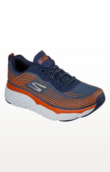 Skechers | Navy and Orange Max Cushioning Elite Trainers