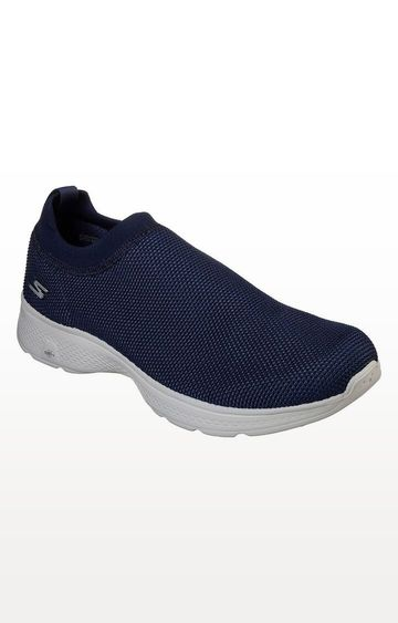 Skechers | Navy Go Walk 4 Intend Trainers