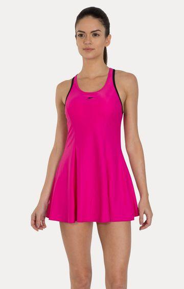 Speedo   Electric Pink Solid Swimsuit