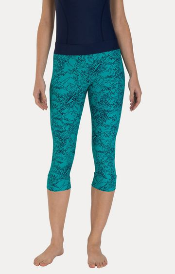Speedo   Jade Green and Navy Printed Swimwear Bottom