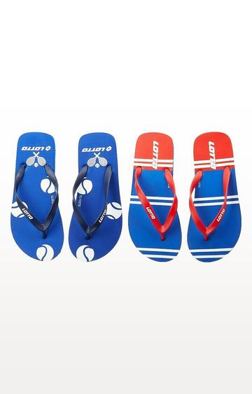 Lotto | Lotto Black and Yellow Lotto Slipper Combo Ronis-Starboard Flip flops