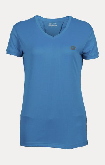 Lotto | Blue Solid Activewear T-Shirt