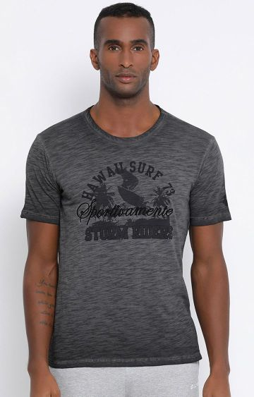 Lotto | Charcoal Printed Hawai T-Shirt