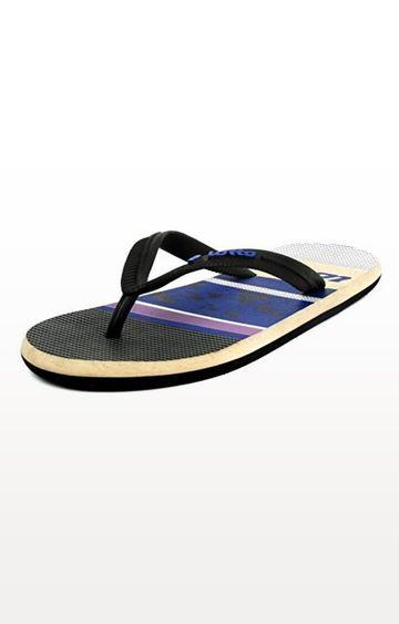 Lotto | Black and Purple Lina Flip flops