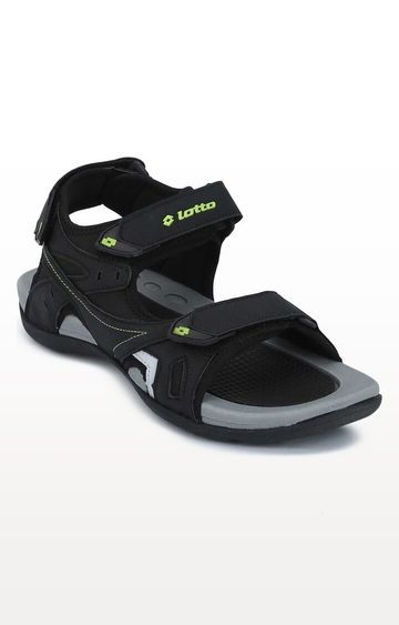 Lotto | Lotto Black and Lime Ridge II Floaters