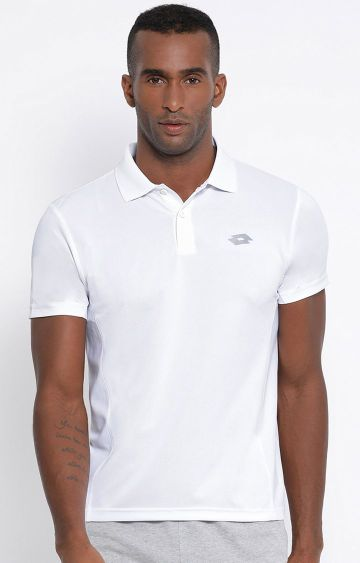 Lotto | White Solid Polo T-Shirt