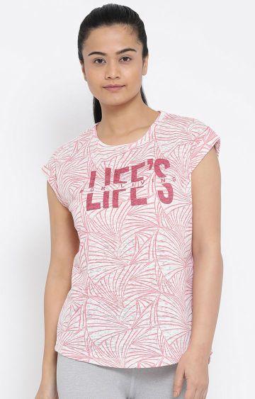 Lotto | Pink Printed L73 T-Shirt