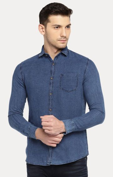 Easies | Blue Solid Casual Shirt