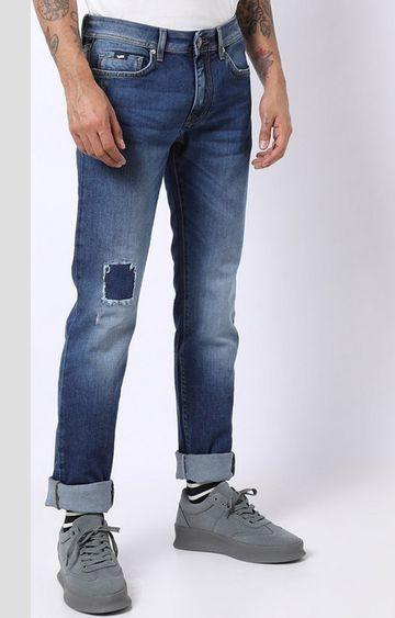 GAS   Albert Simple Distressed Slim Fit Jeans
