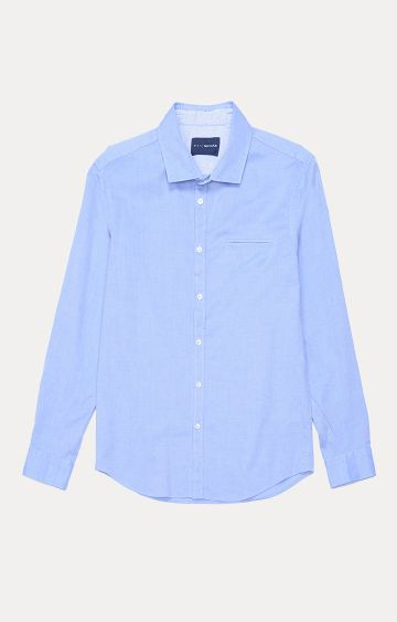 GAS | Men's Sasha solid blue shirt