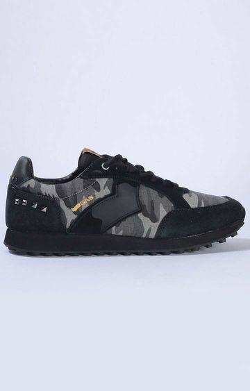 GAS | Black Peter Camou Mix Casual Lace-ups
