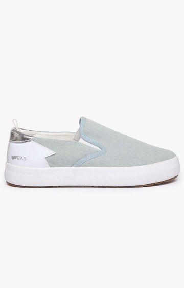 GAS | Women's slip on light blue Bella denim shoes