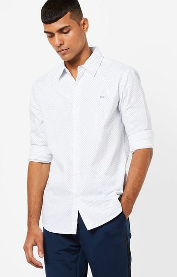 GAS | Men's Sir Det printed white shirt