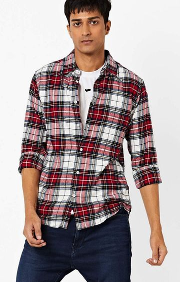 GAS | Checked Slim Fit Shirt