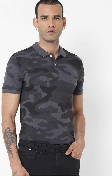 GAS | Gerolf/S Printed Black Polo T-Shirt