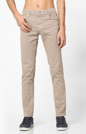 GAS | Men's Mid-Rise Beige Skinny Jeans