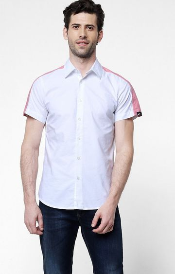 GAS | Men's Sir Det solid white shirt